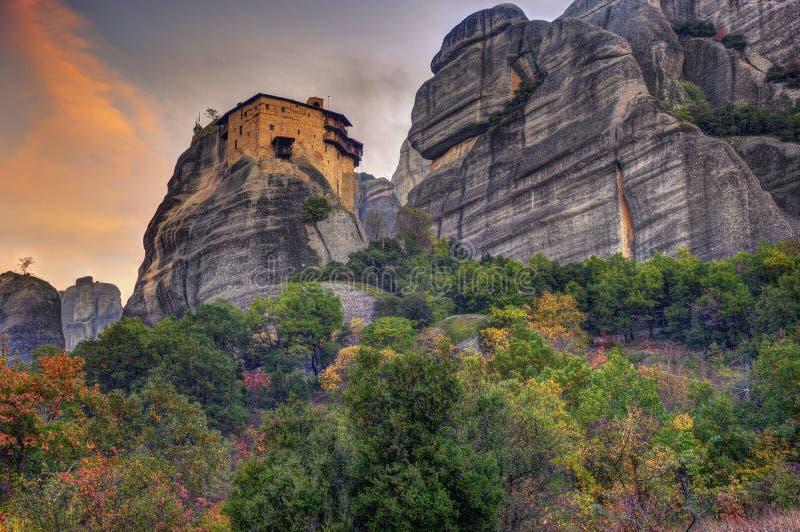Meteoron, Grécia - St Nikolas Anapavsa do monastério imagem de stock royalty free