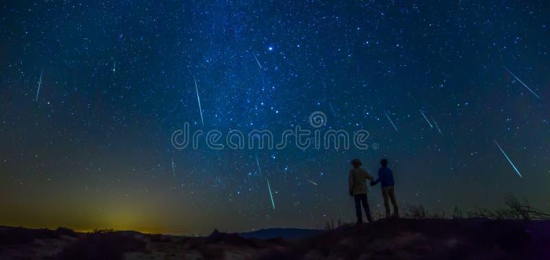 Meteorowa prysznic zdjęcia royalty free