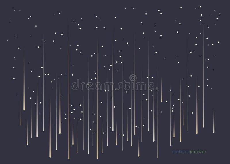 Meteorowa prysznic ilustracja wektor