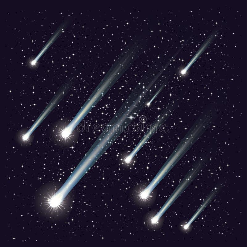 Meteorowa prysznic royalty ilustracja