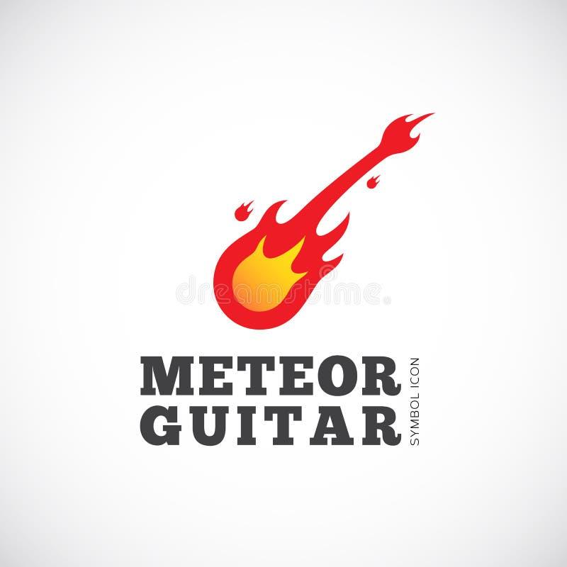 Meteorowej gitary pojęcia symbolu Wektorowa ikona lub logo ilustracji