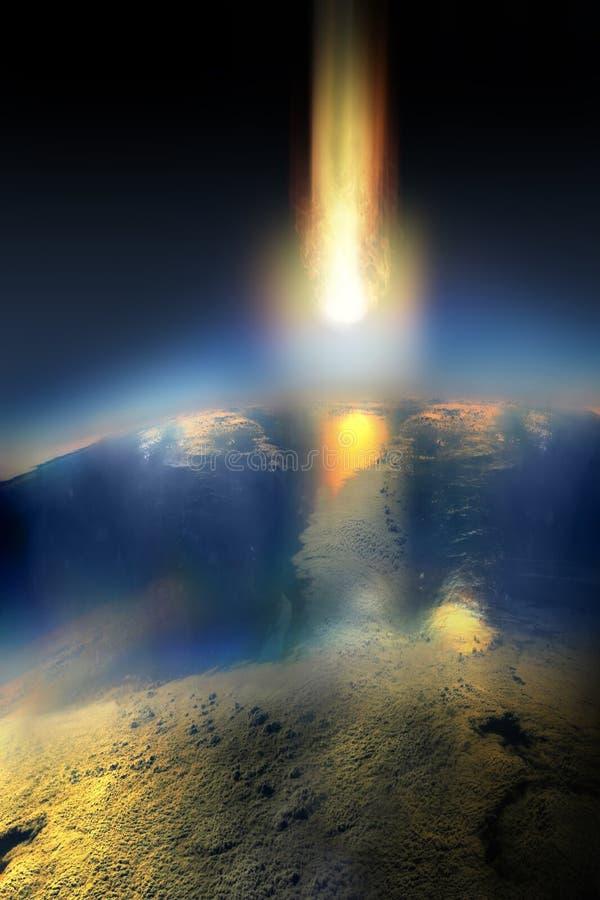 Meteorowy apocalypse ilustracji