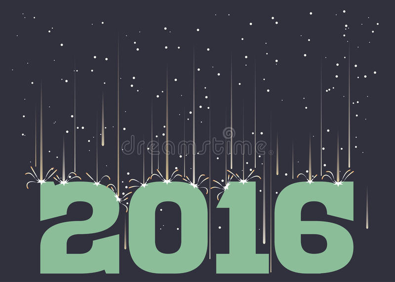 Meteorregn som faller på 2016 royaltyfri illustrationer
