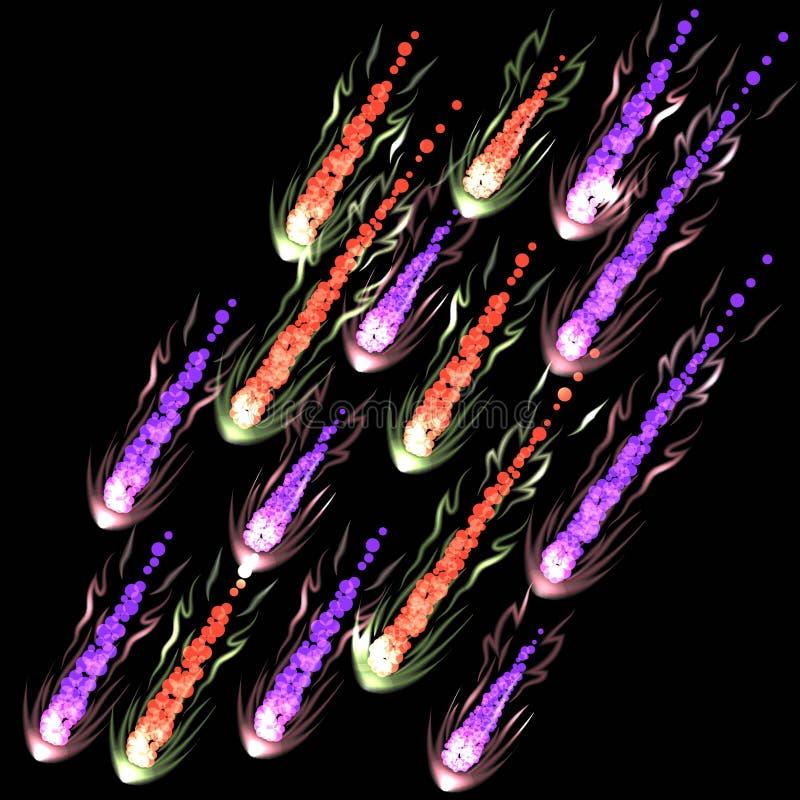 meteors royaltyfri illustrationer