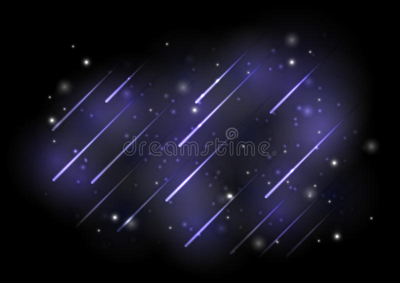 Download Meteors lights stock vector. Image of astronomy, element - 26384445