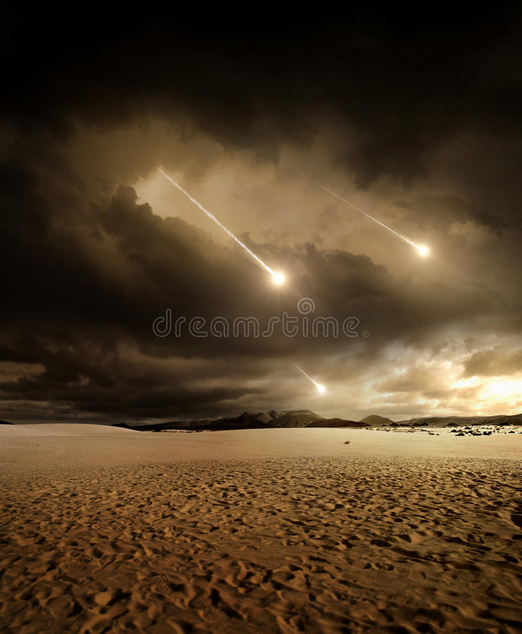 Meteors to the sky royalty free stock photography
