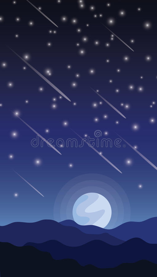 Meteorshower zdjęcia stock