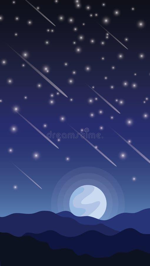 Meteorshower stock photos