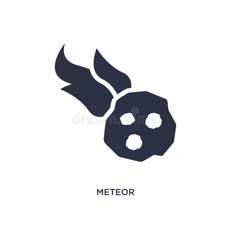 meteorsymbol på vit bakgrund Enkel beståndsdelillustration från begrepp för stenålder stock illustrationer