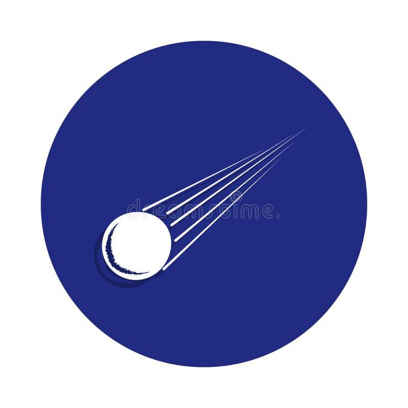 meteoryt ikona w odznaka stylu Jeden Astronautyczna inkasowa ikona może używać dla UI, UX ilustracji