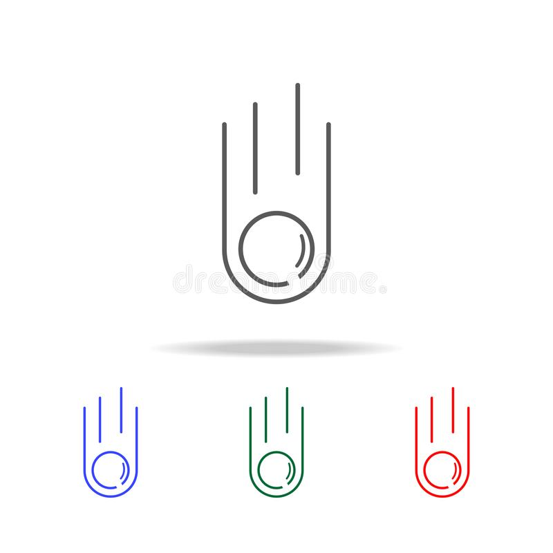 meteoryt kreskowa ikona Elementy w wielo- barwionych ikonach dla mobilnych pojęcia i sieci apps Ikony dla strona internetowa proj ilustracja wektor