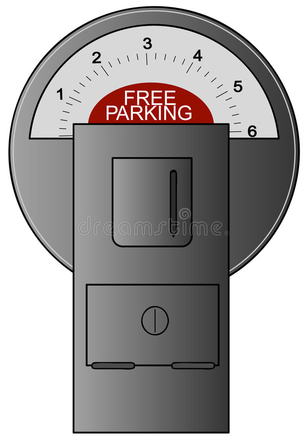 Meter With Free Parking Royalty Free Stock Image