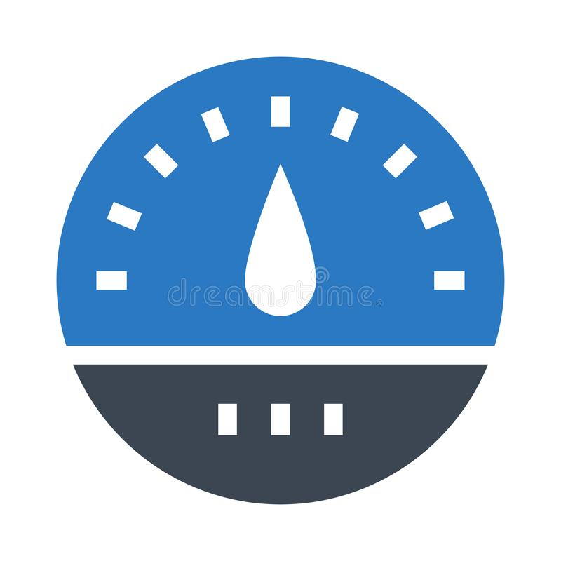 Meter glyphs double color icon stock illustration