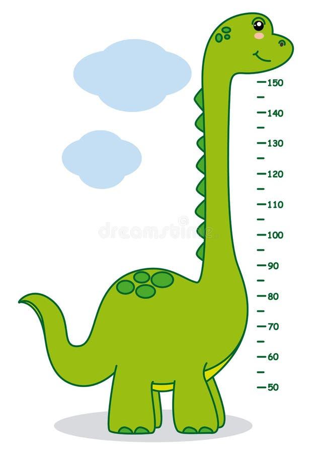 Meter wall dinosaur vector illustration