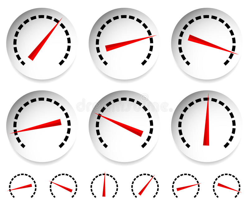 Meters, Dials With Red Pointer...