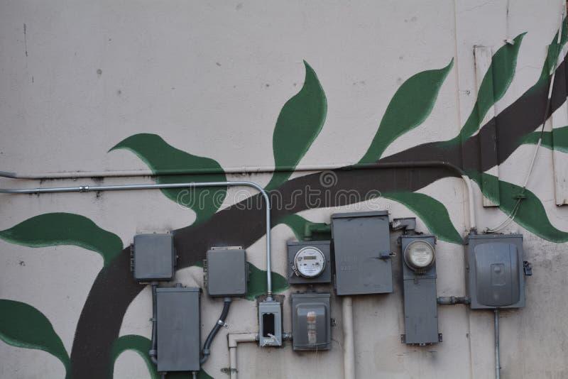 Meters en muurschildering in Portland, Oregon royalty-vrije stock foto's