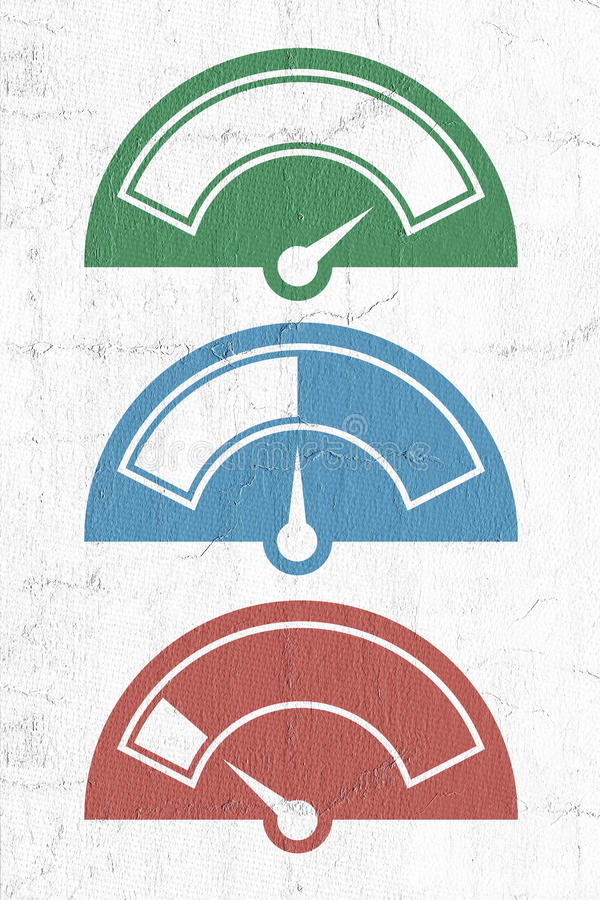 Metervisarsymboler stock illustrationer