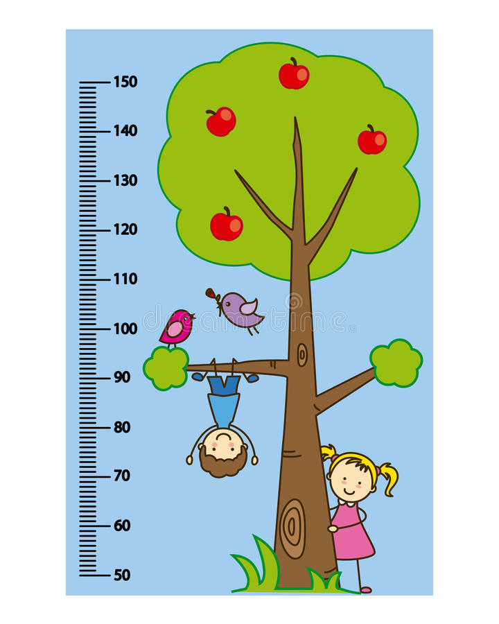Meterwandkinder lizenzfreie abbildung
