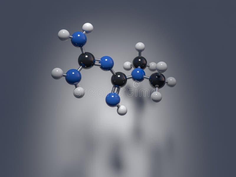 Metformin, droga anti-diabética ilustração royalty free