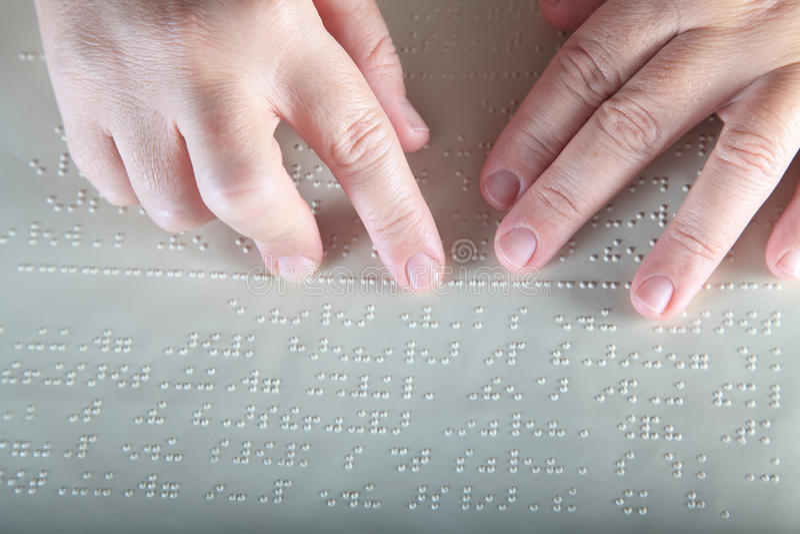 Method Braille royalty free stock image