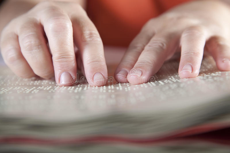 Method Braille. For blind people stock images