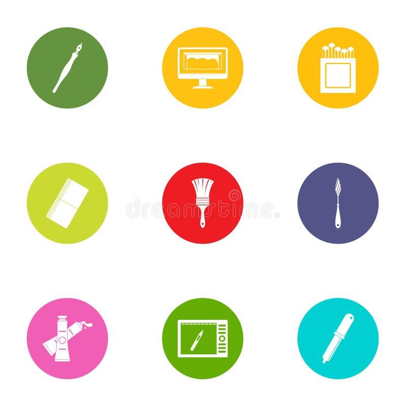 Method icons set, flat style stock illustration