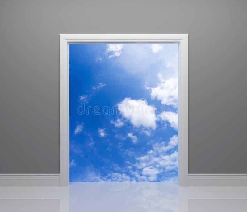 Methode zum Himmel lizenzfreie abbildung