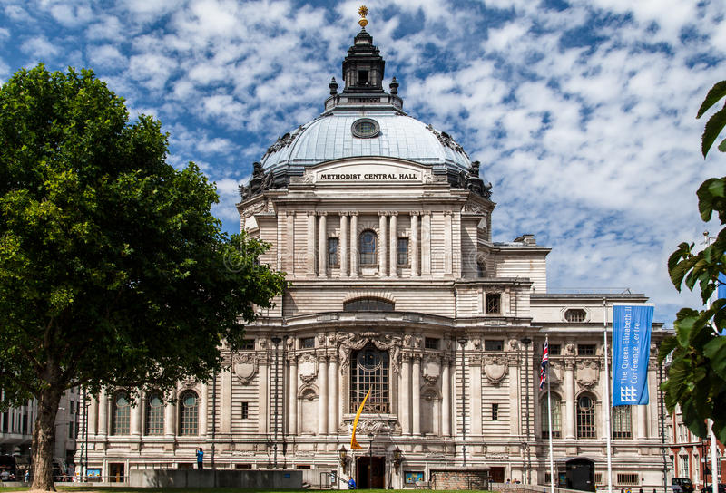 Download Methodist Central Hall Westminster London England Editorial Image - Image of tree, dome: 26938755