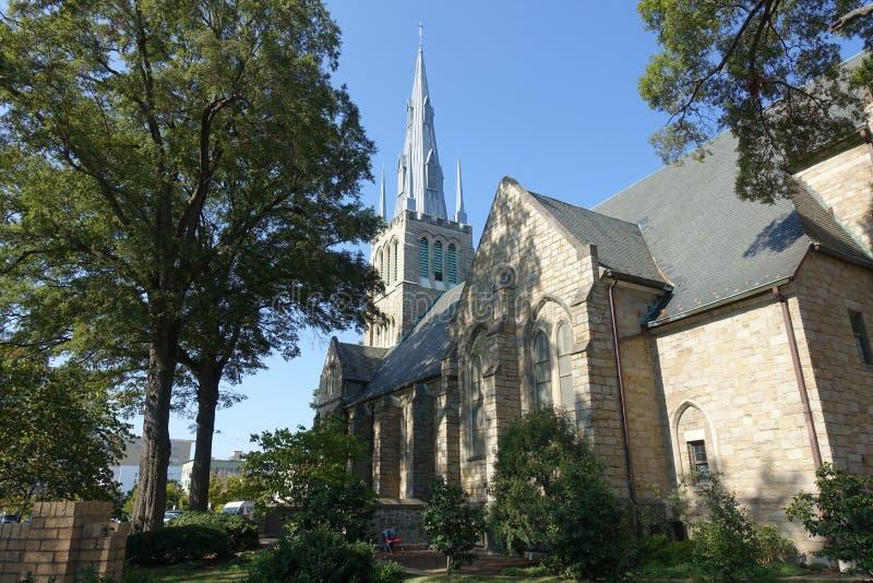 A Methodist Church in Downtown Durham, NC. A Methodist Church in Downtown Durham, North Carolina stock image