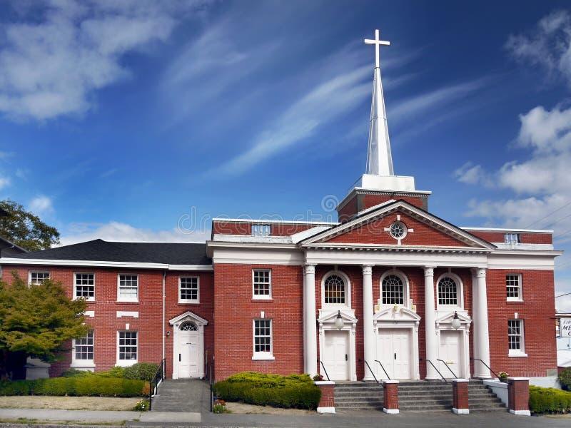 Methodist Kerk, Astoria Oregon Verenigde Staten stock foto