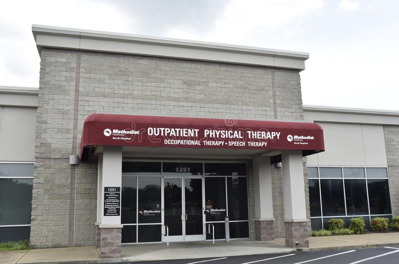 Methodist South, Outpatient Physical Therapy, Memphis, TN. Methodist Healthcare outpatient rehabilitation centers provide physical, occupational and speech royalty free stock image