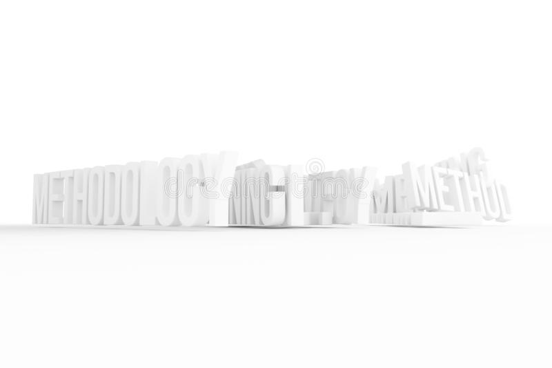 Methodology, business conceptual gray or black and white B&W 3D rendered words. Wallpaper, cgi, rendering & design. Methodology, business conceptual gray or vector illustration