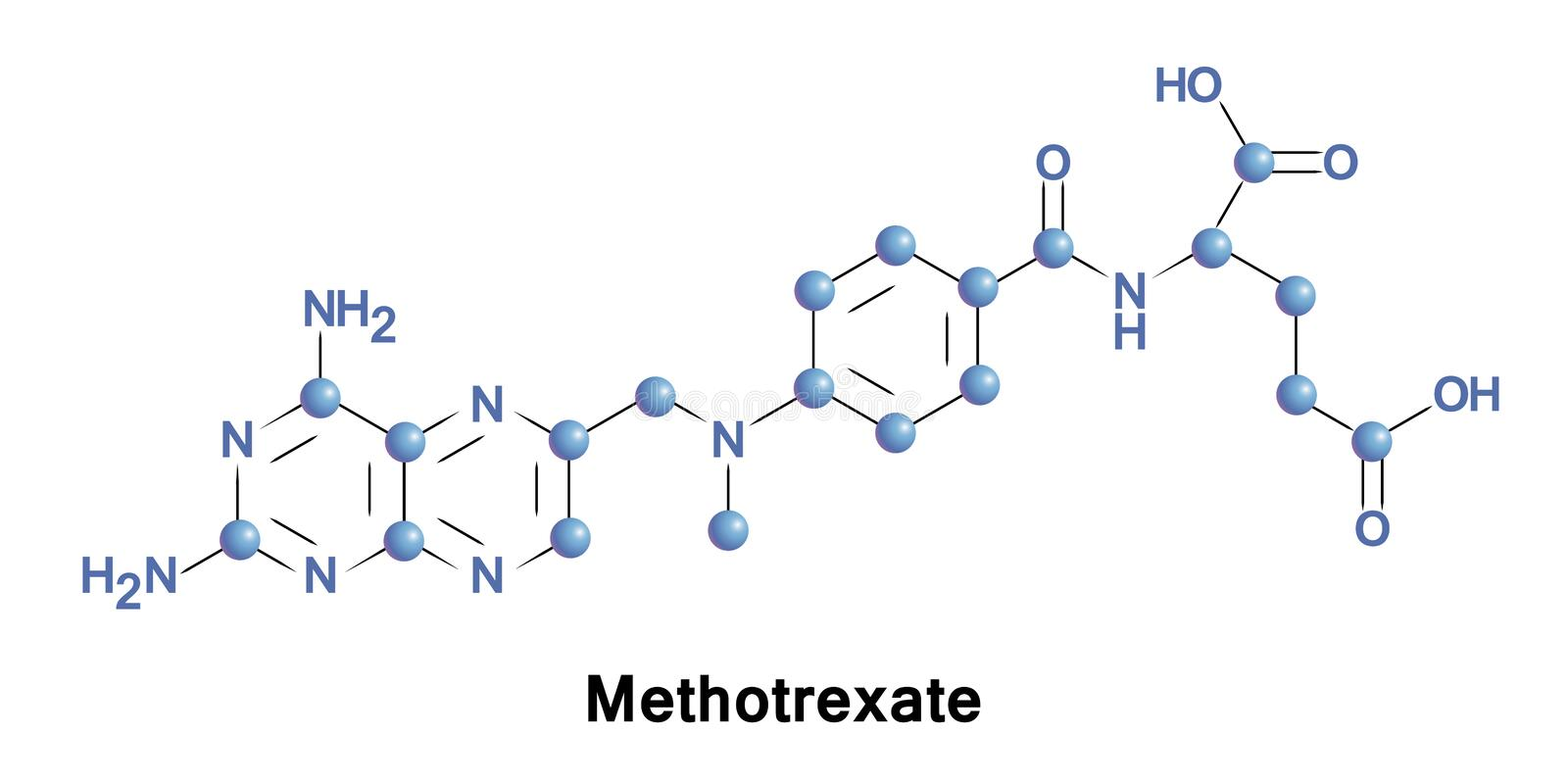 Methotrexate is a chemotherapy agent stock illustration