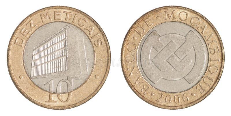Meticais da moeda de Moçambique imagens de stock