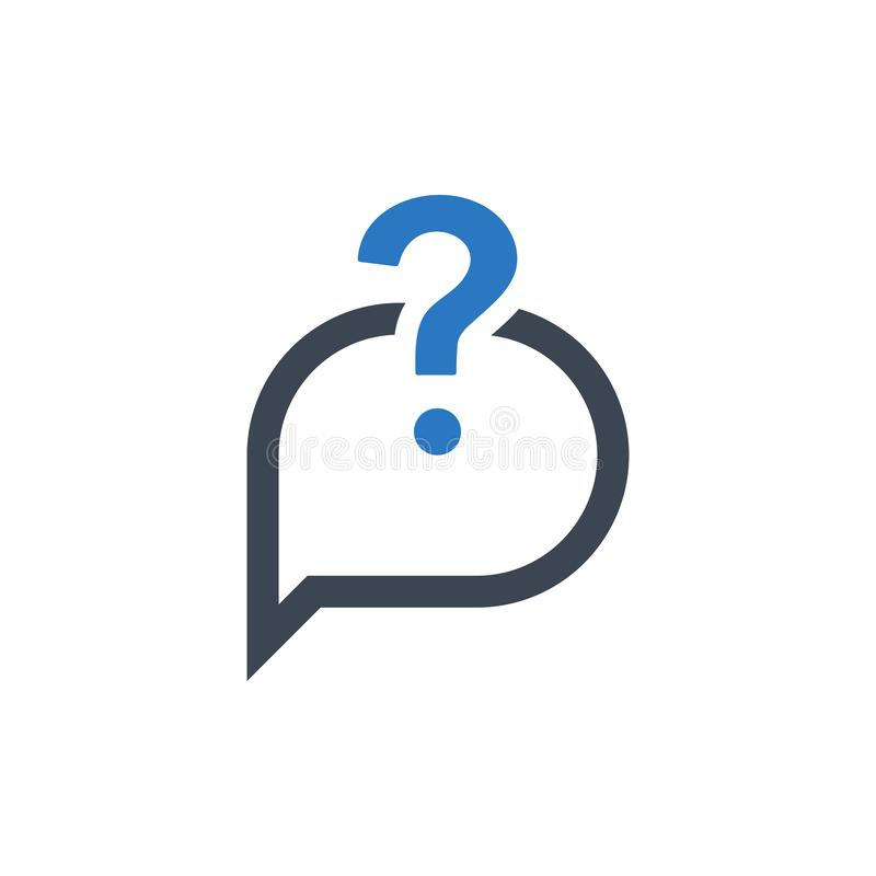 Asking question icon vector illustration