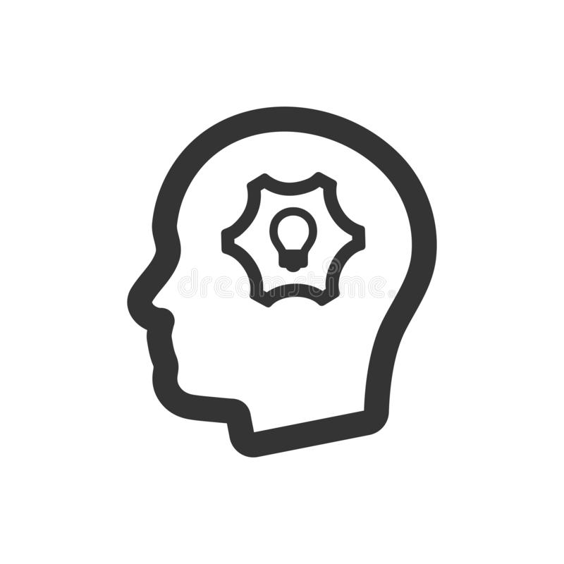 Intellectual thinking icon. Meticulously designed Intellectual thinking icon stock illustration