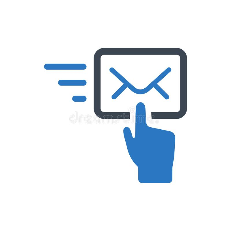 Sending fast mail icon. Meticulously Designed Sending fast mail icon vector illustration