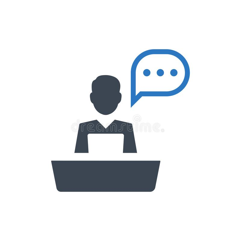 Support desk icon. Meticulously Designed Support desk icon vector illustration