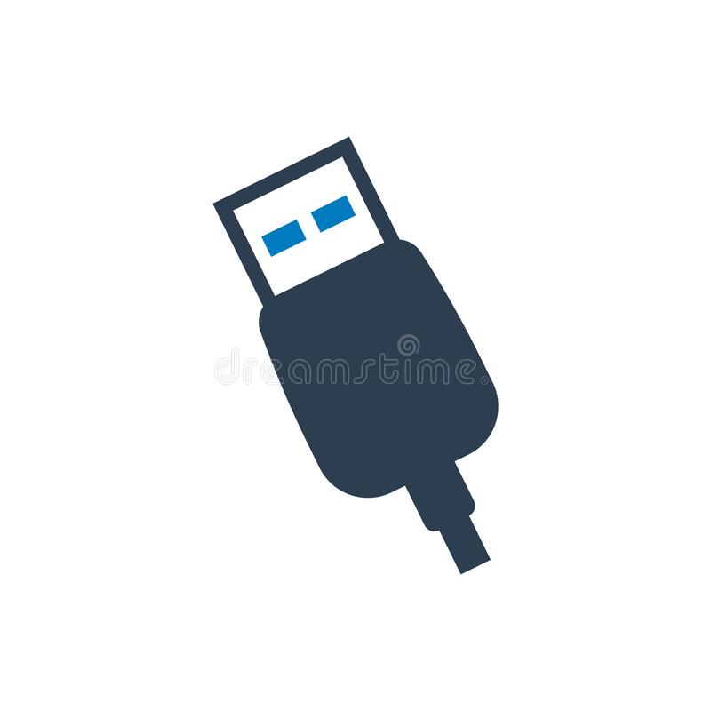 USB port icon royalty free illustration