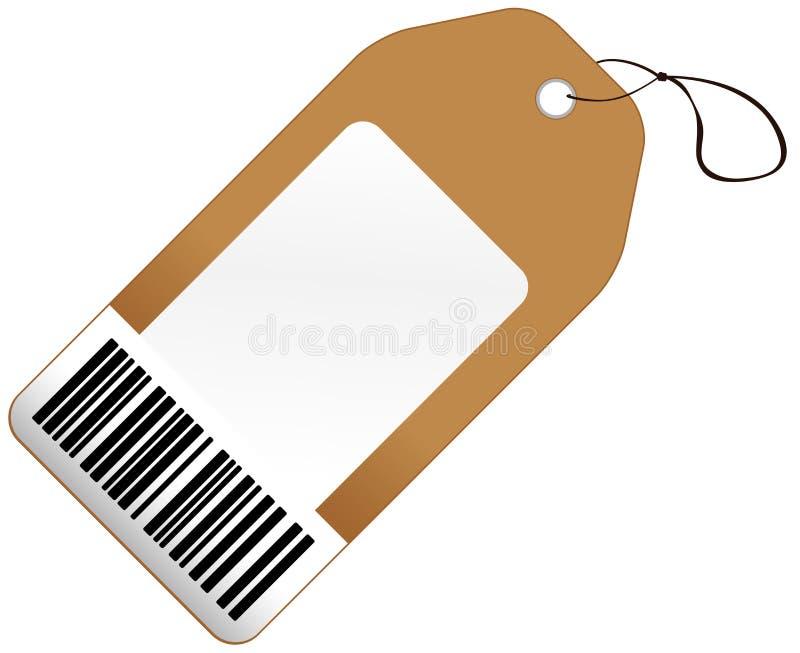 Metka z barcode royalty ilustracja