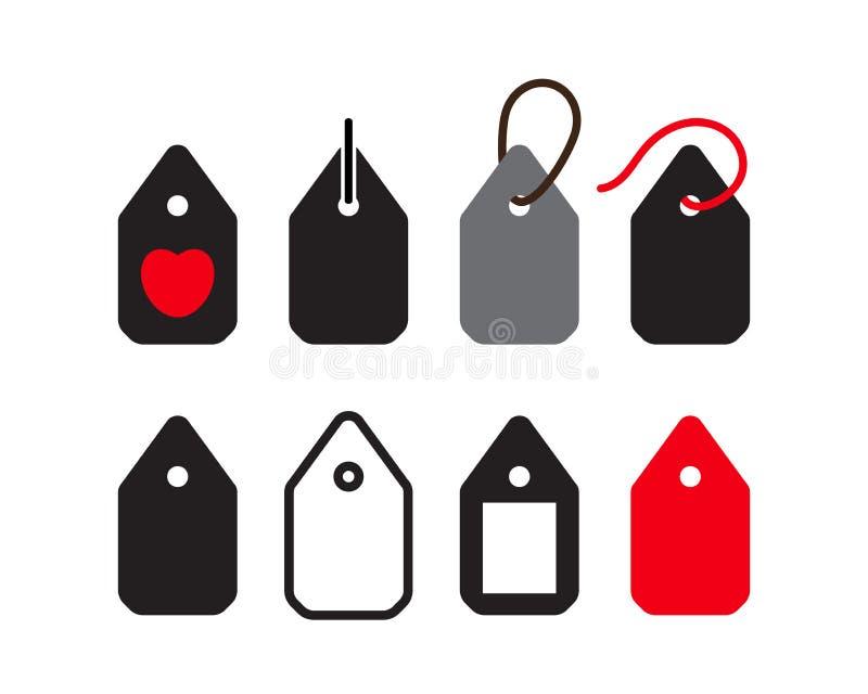 Metki ikony kolekcja, sprzedaży etykietki symboli/lów rabata etykietki royalty ilustracja