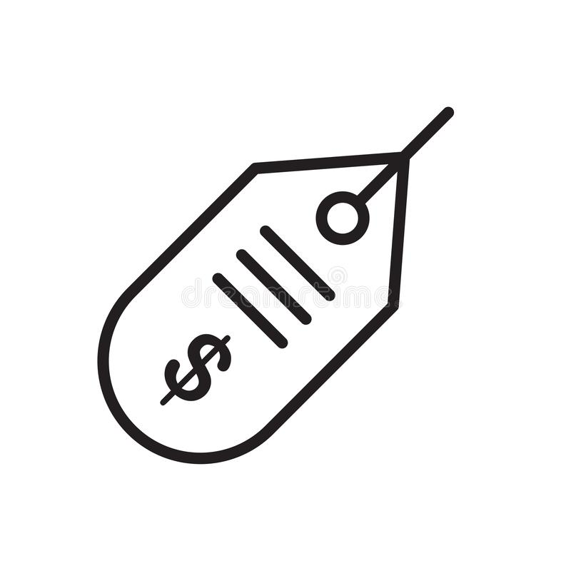 Metki ikony wektoru znak i symbol odizolowywający na białym backgrou zdjęcia royalty free