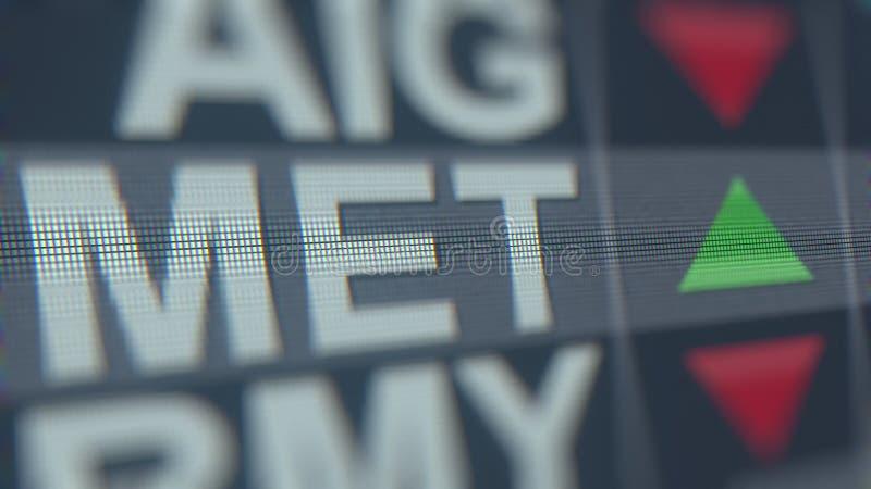 Metlife encontrou o relógio conservado em estoque na tela Rendição 3D editorial ilustração do vetor