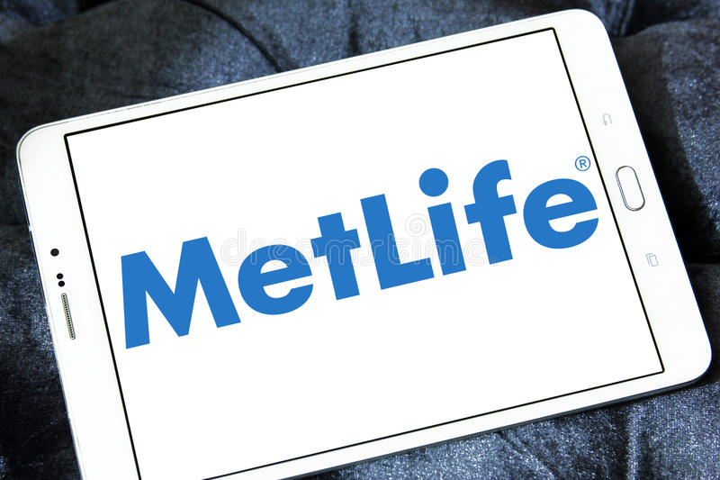 Metlife insurance logo royalty free stock images