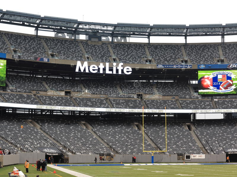 MetLife Stadium - New York Jets Giants. All the seating decks for the New York football Jets and Giants at MetLife Stadium in New Jersey royalty free stock image