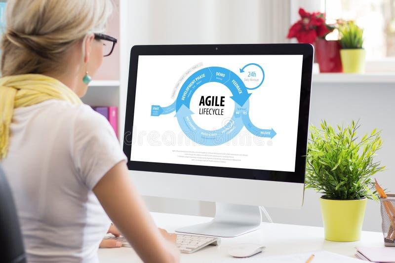 Metodo agile di sviluppo di software immagini stock libere da diritti