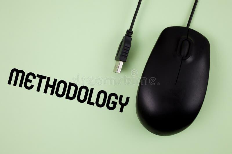 Metodología del texto de la escritura de la palabra El concepto del negocio para el sistema de métodos usados en un estudio o una foto de archivo libre de regalías