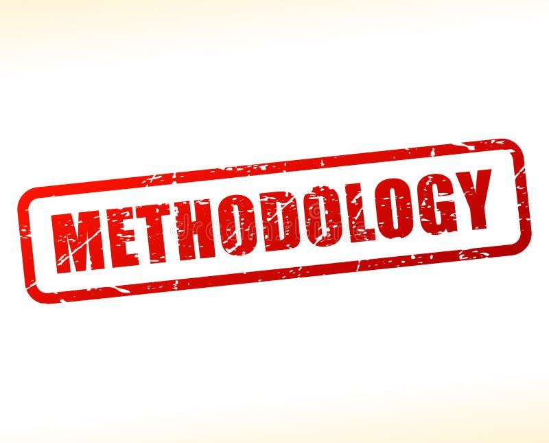 Metodologia teksta czerwony znaczek ilustracji