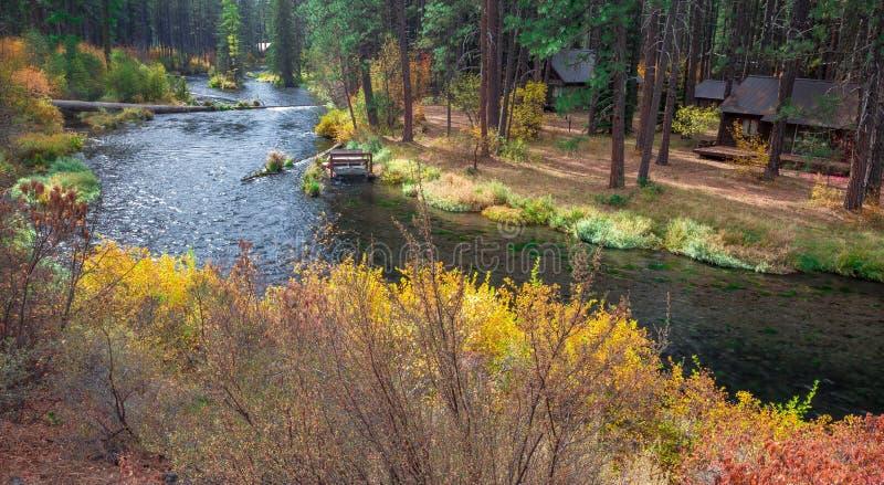 Metolius flod fotografering för bildbyråer
