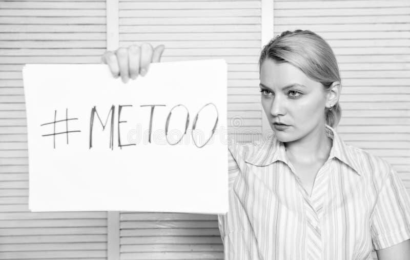 Metoo come nuovo movimento Conflitto del responsabile Molestia sessuale sul lavoro Provi a sedurre direttore immagini stock libere da diritti